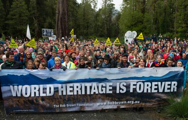 world heritage rally banner